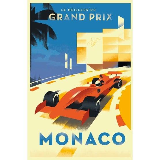 Mid-Century Modern 2015 Contemporary Danish Poster, Monaco Grand Prix For Sale - Image 3 of 3