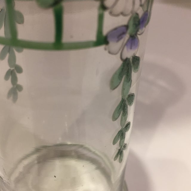 Antique Bohemian Hand-Painted High Enamel Glass Vase For Sale In Naples, FL - Image 6 of 13