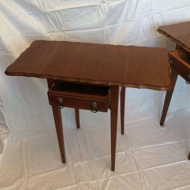 Vintage Drop Leaf Side Tables - A Pair - Image 4 of 9