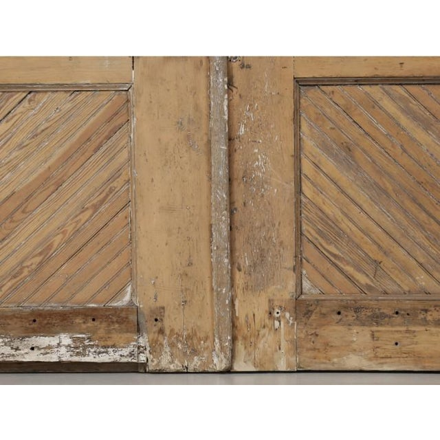 Antique 1890s American Garage or Barn Doors - a Pair For Sale - Image 9 of 13