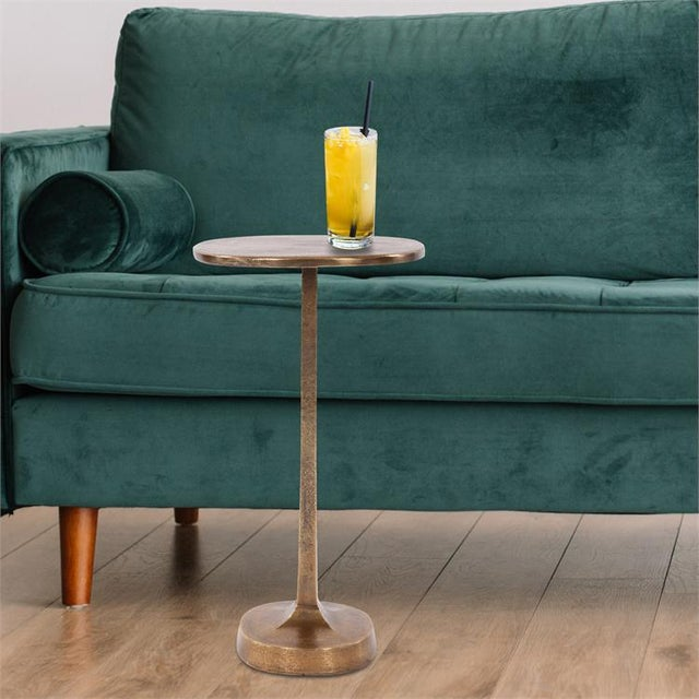 The Brass Cast Aluminum Martini Table This cast aluminum Martini table will certainly provide the perfect spot to rest...