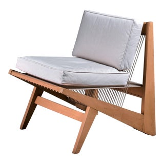 Rope Sling Lounge Chair in the Manner of Albert Frey, USA, 1950s For Sale