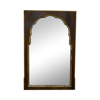 Widdicomb Vintage Walnut Partial Gilt Wall Mirror For Sale