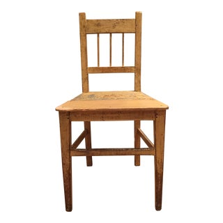 Early 20th Century Antique European Primitive Side Chair For Sale