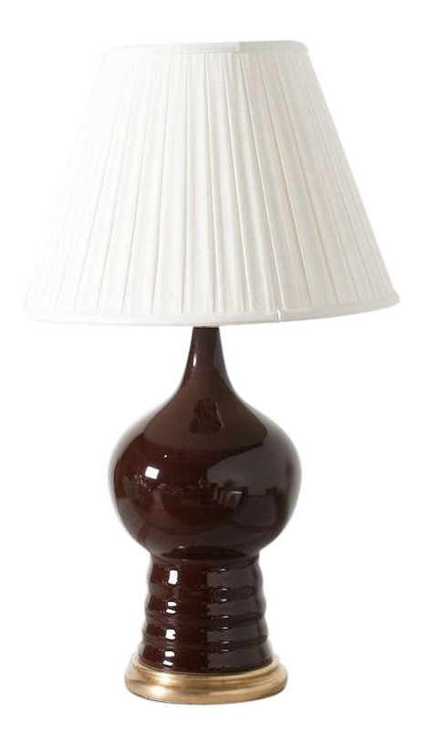 Claire Brown Ceramic Gouard Table Lamp Chairish