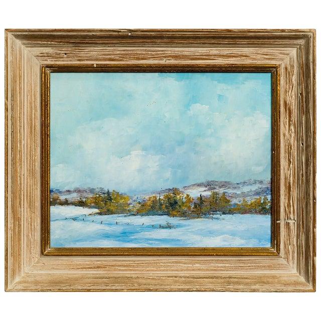 Oil on Board of Landscape For Sale