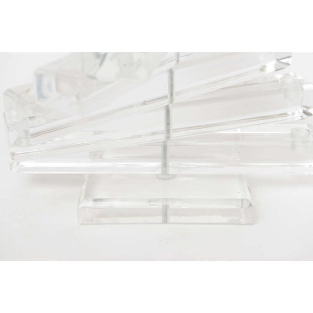 """Lucite """" Spiral Staircase"""" Sculptural 12 Light Candelabra For Sale - Image 9 of 11"""