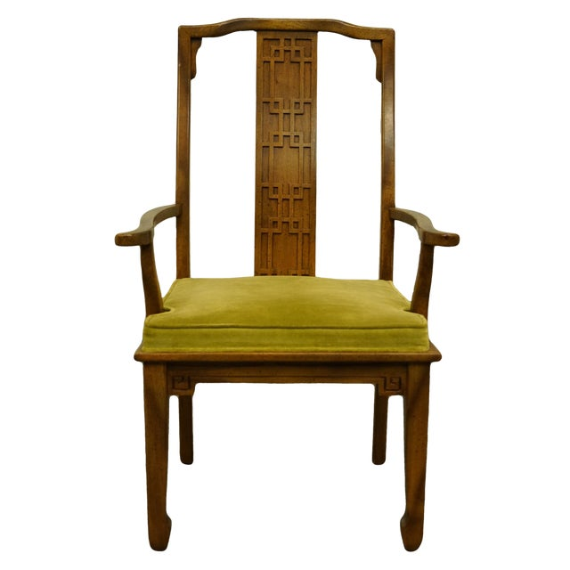 Century Furniture Asian Inspired Chinoiserie Dining Arm Chair For Sale
