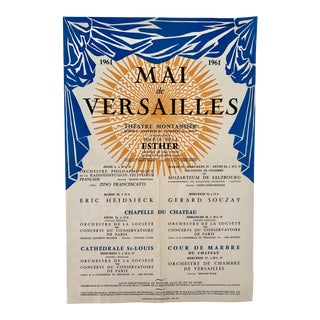 1961 French Mai De Versailles Concert Poster For Sale