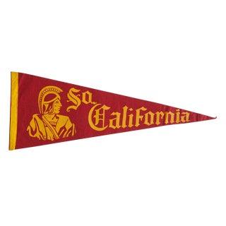 XL Vintage Southern California University Felt Flag Pennant For Sale