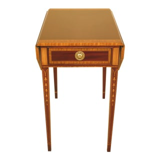 Councill Craftsmen Inlaid Mahogany Federal Pembroke Table