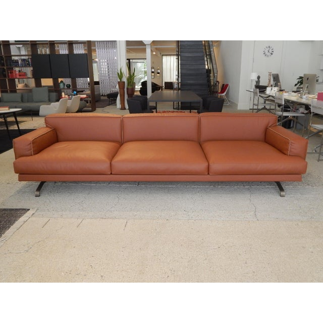 Gordon Guillaumier Lema 'Mustique' Leather Sofa - Image 2 of 9