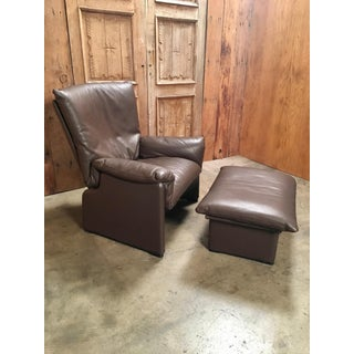 "Late 20th Century Cassina ""Palmaria"" Leather Chair and Ottoman Preview"