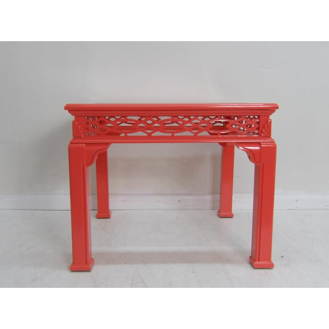 Shell Contemporary Coral Class Top, Decorative Coffee Table For Sale - Image 7 of 7