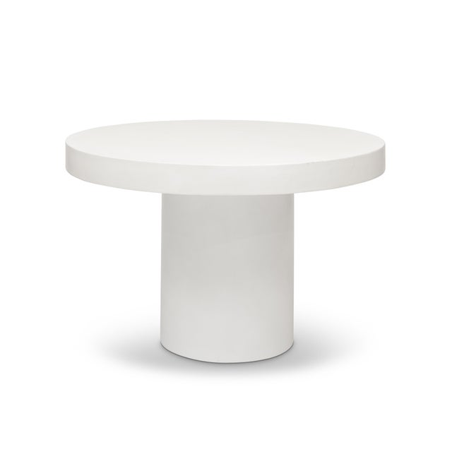 Mid-Century Modern Ivory Circa Dining Table For Sale - Image 3 of 3