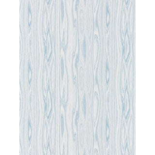 Scalamandre Faux Bois Weave, Blue Ice Fabric