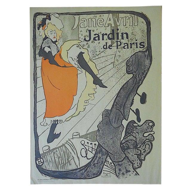 Vintage Toulouse Lautrec Lithograph -Jane Avril For Sale