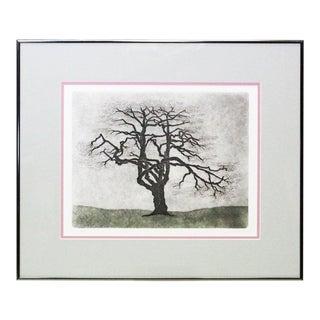 Framed Dogwood Tree Print For Sale