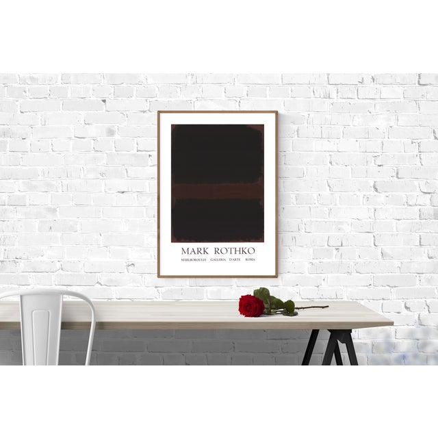 "First run exhibition poster for ""Mark Rothko"" at Marlborough Galleria D'Arte, Rome held in February 1971. Blind stamped by..."