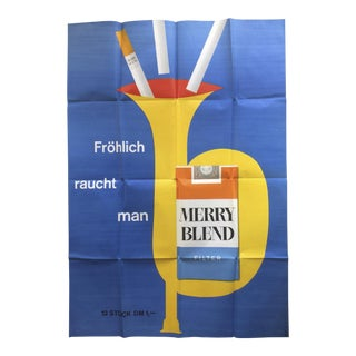 Vintage Cigarette Advertising Poster