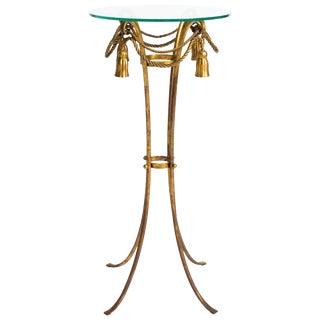 Italian Gilt Metal Tassel Pedestal / Fern Stand For Sale