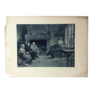 """Antique Photogravure on Paper, """"The Two Brothers"""" from D. Appleton & Company - Circa 1860 For Sale"""