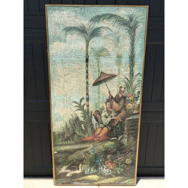 Chinoiserie Decoupaged Wall Hanging For Sale - Image 13 of 13