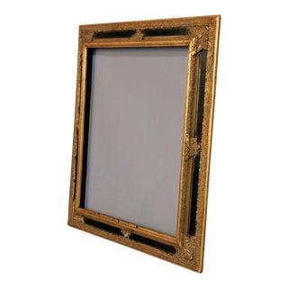 Antique Ornate Gold and Black Gilt-Wood Frame For Sale