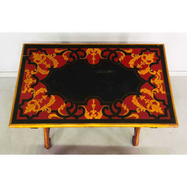Red 19th Century Spanish Baroque Style Console For Sale - Image 8 of 10