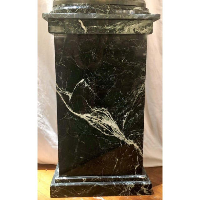 """Exceptional Antique French Bronze Sculpture, """"Pheasant Brood,"""" on Marble Pedestal. Signed """"Clovis Masson"""" (1838-1913), a..."""
