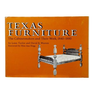 Texas Furniture: The Cabinetmakers and Their Work, 1840 - 1880 For Sale