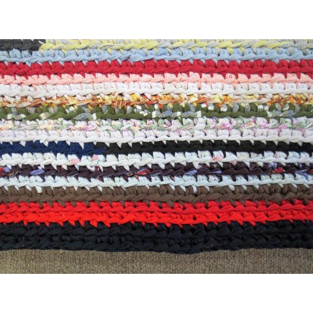 Modern Braided Rag Rug- 4′ × 20′6″ For Sale - Image 11 of 13