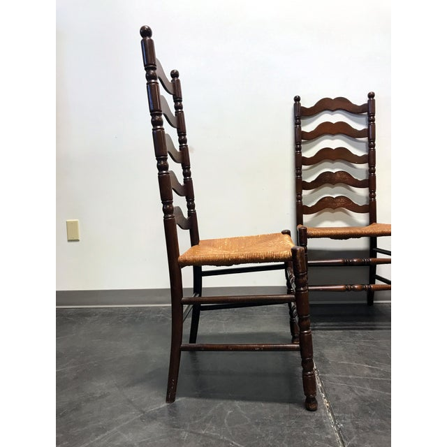 Tell City Vintage Ladder Back Dining Chairs - Set of 4 - Image 9 of 11