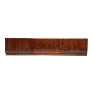 Large Danish Rosewood Credenza or Media Console, Mid Century Modern For Sale