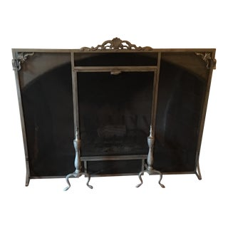 Pleasing Vintage Used Fireplace Screens Fenders For Sale Chairish Download Free Architecture Designs Aeocymadebymaigaardcom