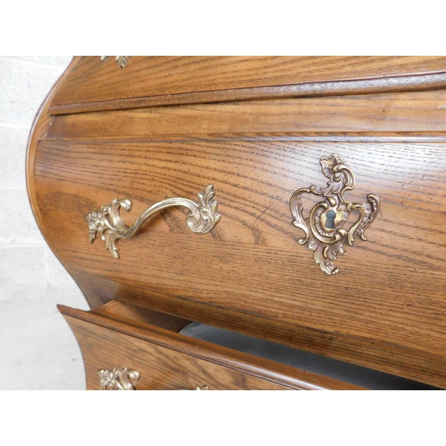 """Baker Furniture Company Baker French Louis XV Style Bombe Chests - a Pair 31""""w X 30""""h For Sale - Image 4 of 13"""