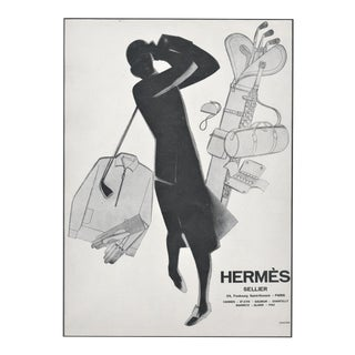 1929 Hermés French Advertisement Print- Woman Who Golfs For Sale