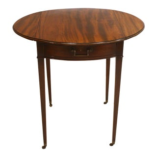 Georgian Pembroke Table / Oval Top For Sale