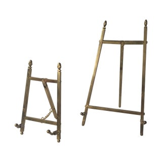 Brass Easels - A Pair For Sale