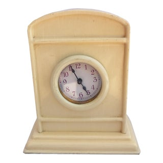 Antique Celluloid Table Clock For Sale