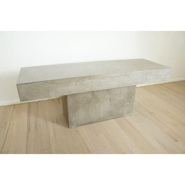 CB2 Concrete Resin Fuze Bench - Image 3 of 6