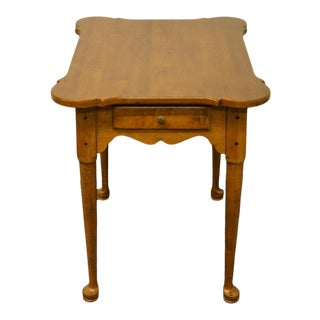 Ethan Allen Circa 1776 Solid Maple End Table For Sale