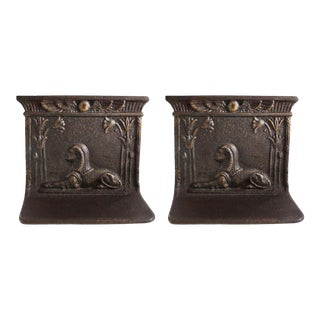 Late 19th Century Aesthetic Movement Sphinx Bookends, Egyptian Revival - a Pair For Sale