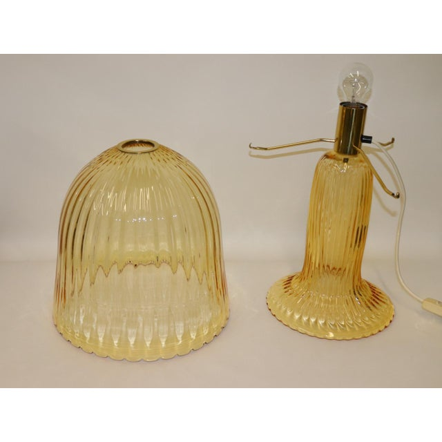 Rare Mid-Century Modern Murano Glass Table Lamp For Sale In New York - Image 6 of 13