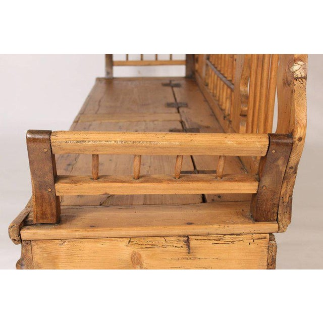 Continental Pine Settle Bench - Image 7 of 11