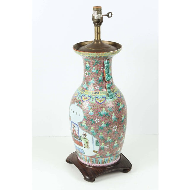 Exceptional chinese ceramic table lamp decaso early 20th century chinese ceramic table lamp for sale image 5 of 5 aloadofball Images