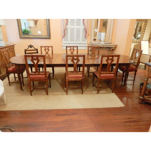 French Walnut Extension Dining Table For Sale - Image 11 of 12