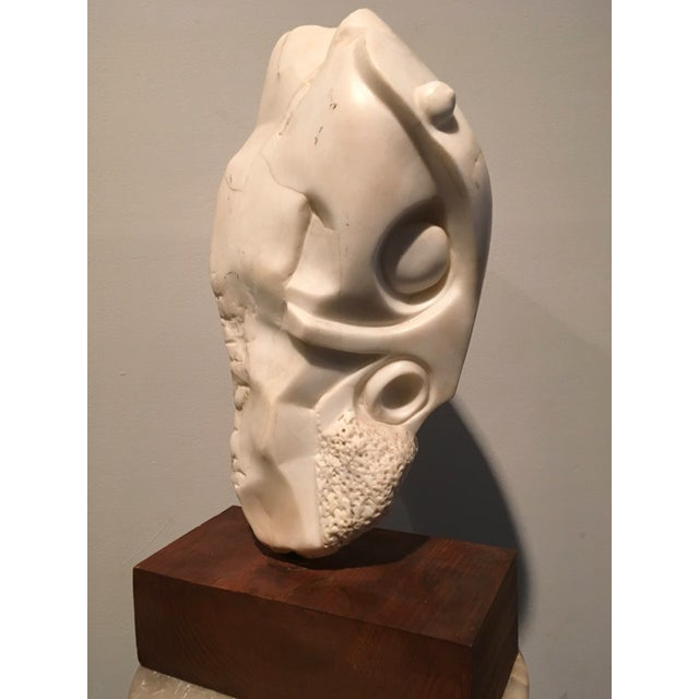 American Sculpture Hand-Carved Stone : Moses, Ca. 1940 For Sale - Image 4 of 6