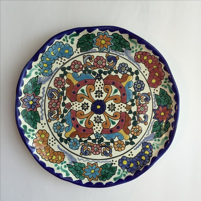Mexican Pottery Platter For Sale - Image 7 of 9