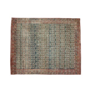 "Antique Fragment Heriz Square Rug - 4'10"" X 5'11"""